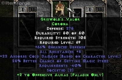 Full Griswold S Legacy Set For Paladin Diablo 2 Ladder Amp Non