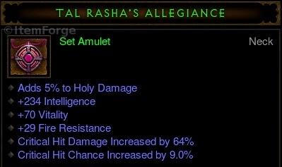 Diablo  Crafting Tal Rasha Set