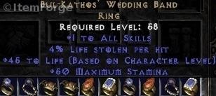 Bul Kathos Wedding Band.Bk Ring Bul Kathos Wedding Band Diablo 2 Ladder Non Ebay