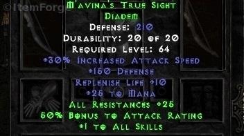 diablo 2 mavina set