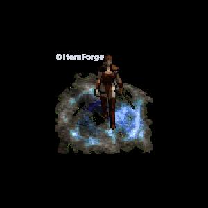 Diablo 2 Merc A1 Ice look (aura)