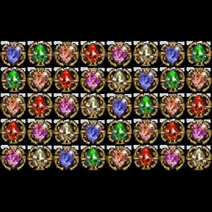 Diablo 2 40 Jewels look (icon)